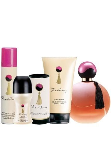 Avon Far Away Kadın Parfüm 50 Ml Deodorant Roll On Krem Pudra Beş Parça Set Renkli